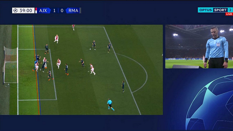"""""""يويفا"""" يوضح سبب إلغاء هدف أياكس أمام ريال مدريد"""