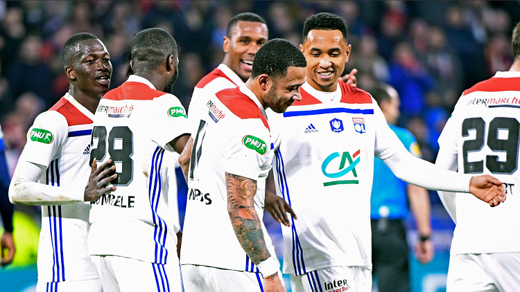 ليون ورين يلحقان بباريس سان جيرمان إلى نصف نهائي كأس فرنسا