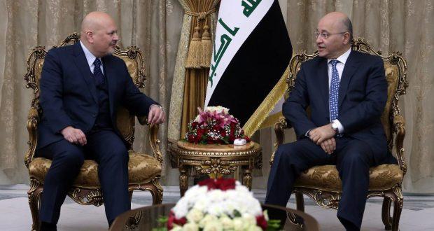 رئيس الجمهورية يؤكد أهمية تواصل الامم المتحدة مع العراق لتوثيق جرائم داعش