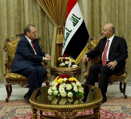 صالح يؤكد لمبعوث بوتين حرص العراق على توسيع العلاقات مع روسيا