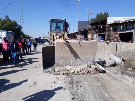 فتح شارع في بغداد مغلق منذ 10 سنوات
