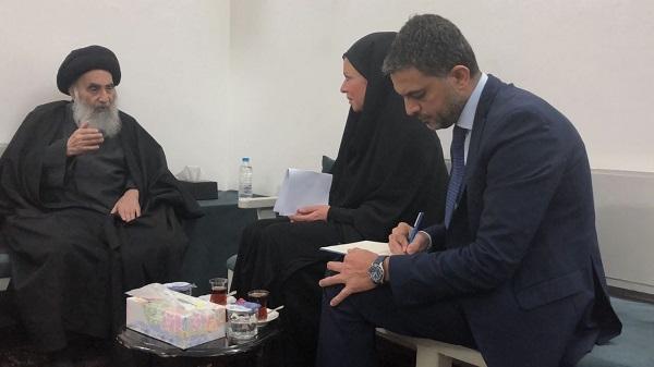 الامام السيستاني يحدد مهام وأولويات الحكومة الجديدة ويؤكد رفض العراق لتوجيه الأذى لأي بلد آخر {موسع}