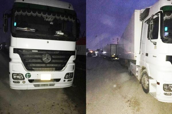 ضبط 5 شاحنات محملة بأدوية ومواد اخرى مهربة في بغداد