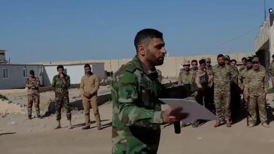 """معاونية التدريب في الحشد تشرف على دورة """"المقاتل الاساس"""" التي يقيمها اللواء 41 بالحشد الشعبي"""