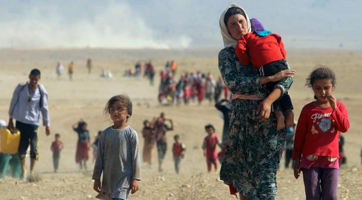 عوة عربية لدعم النازحين في الدول العربية وخاصة العراقيين