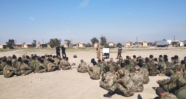 إنطلاق دورة لتطوير المهارات القتالية في مقر قيادة عمليات قاطع شرق الانبار للحشد الشعبي