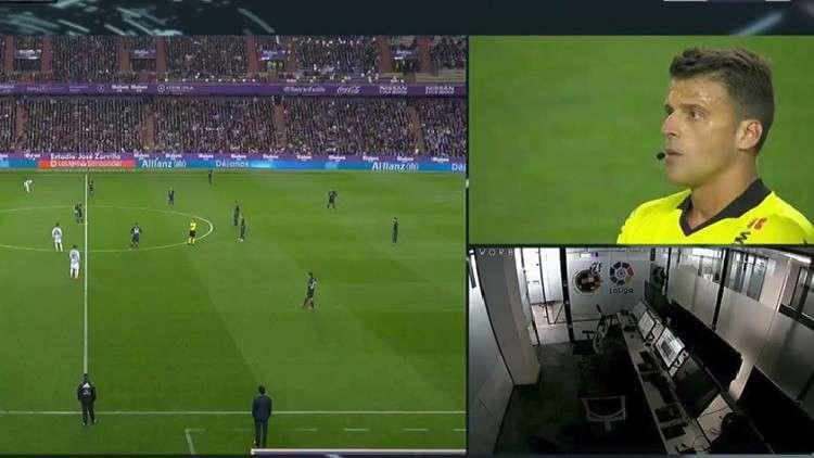 """في مباراة ريال مدريد الحكم يلغي هدفا بالاستعانة بحكام الـ""""VAR"""" المختفين"""