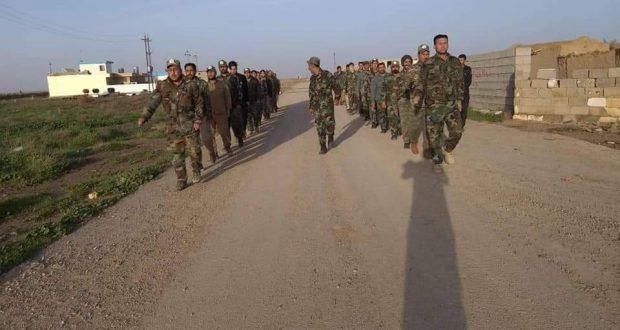 اللواء 22 بالحشد يجري تدريباته الاساسية ضمن قاطعهم في كركوك