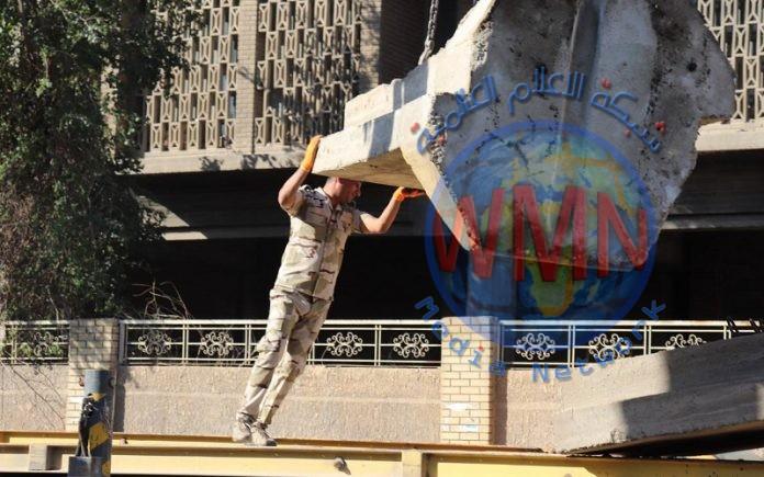 عمليات بغداد تعلن رفع 374 كتلة كونكريتية خلال الاسبوع الماضي