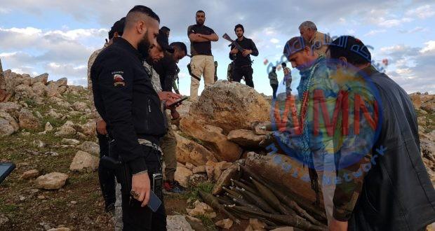 الحشد يعثر على مخبأ للصواريخ بمنطقة جبلية غرب الموصل(صور)
