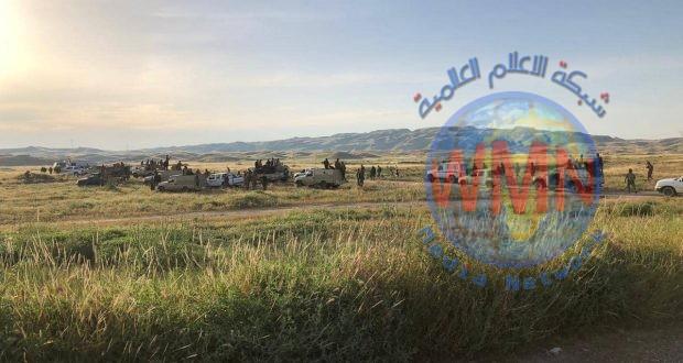 الحشد والقوات الامنية ينفذان عملية تفتيش بمحورين لتعقب فلول داعش في جبال حمرين