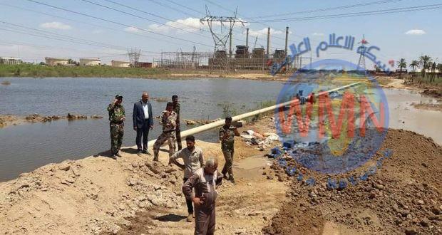 وزارة الكهرباء تشيد بدور الحشد الشعبي في إنقاذ محطة كهرباء الهارثة من خطر الفيضانات في البصرة
