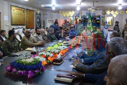 لقاء موسع بين الحشد الشعبي والقوات الامنية في سامراء لبحث تعزيز التعاون لحماية المدينة