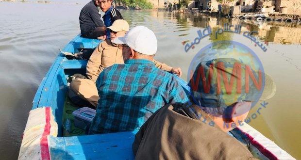 ابو مهدي المهندس يتفقد أهالي جزيرة ام الرصاص جنوب البصرة ويوجه بإنشاء سدة ترابية