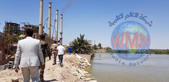 الحشد يباشر بردع خطر الفيضانات عن أهم محطة كهرباء شمال البصرة