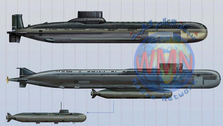 """غواصة حمل طوربيد """"بوسيدون"""" النووي إلى الماء"""