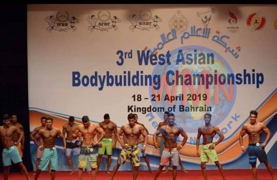 العراق يحصد الذهب والفضة في بطولة غرب آسيا لبناء الأجسام