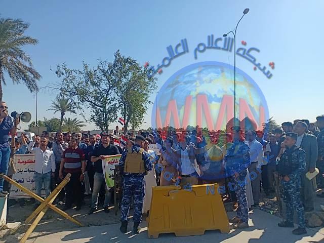 موظفو عقود الموارد المائية يتظاهرون في بغداد للمطالبة بصرف رواتبهم