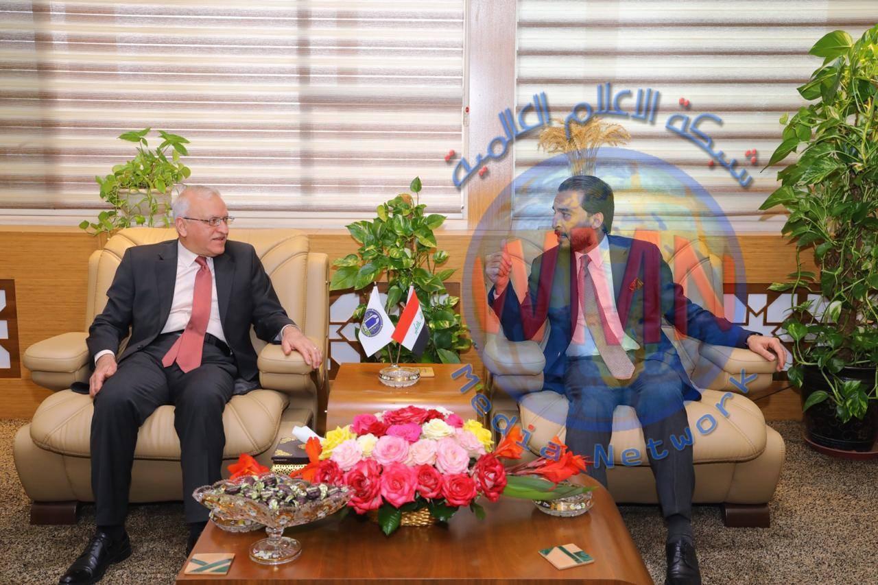 الحلبوسي يناقش مع رئيس جامعة بغداد حضور الطلبة إلى جلسات مجلس النواب