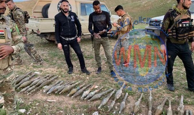 الحشد يعلن العثور على مخبأ للصواريخ غربي الانبار