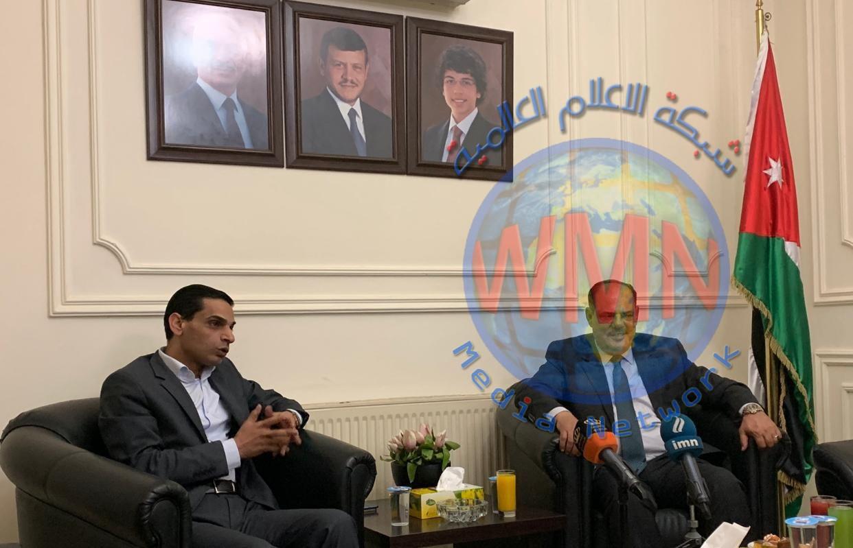 مؤيد اللامي نقيب الصحفيين العراقيين يزور نقابة الصحفيين الاردنيين ويلتقي رئيس واعضاء مجلس النقابه.