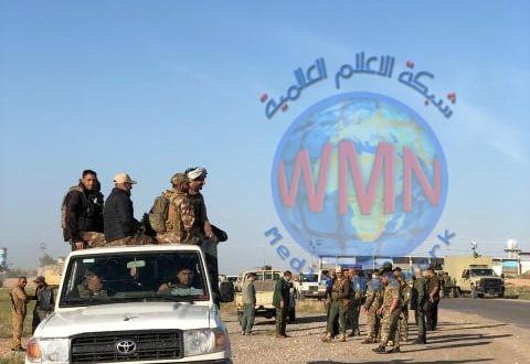 الحشد الشعبي و القوات الأمنية، يقومون بعملية دهم و تفتيش لتعقب خلايا داعش في أطراف خانقين