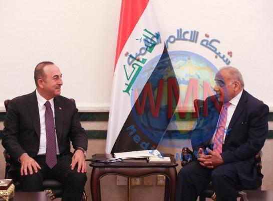 عادل عبد المهدي يستقبل وزير الخارجية التركي
