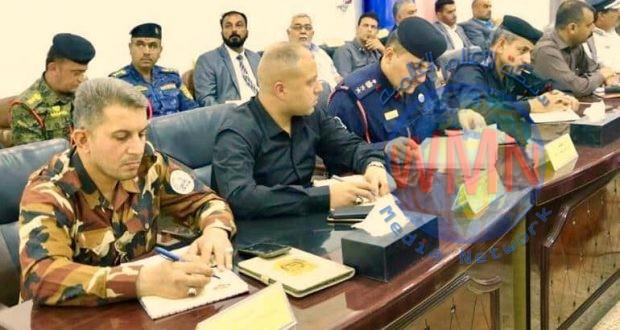 الحشدالشعبي يشارك باجتماع عمليات الفرات الاوسط حول زيارة استشهاد الامام علي (ع)