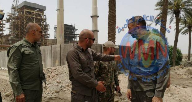 قائد عمليات الحشد في البصرة: الجهد الهندسي أنجز مهامه في محطة كهرباء الهارثة