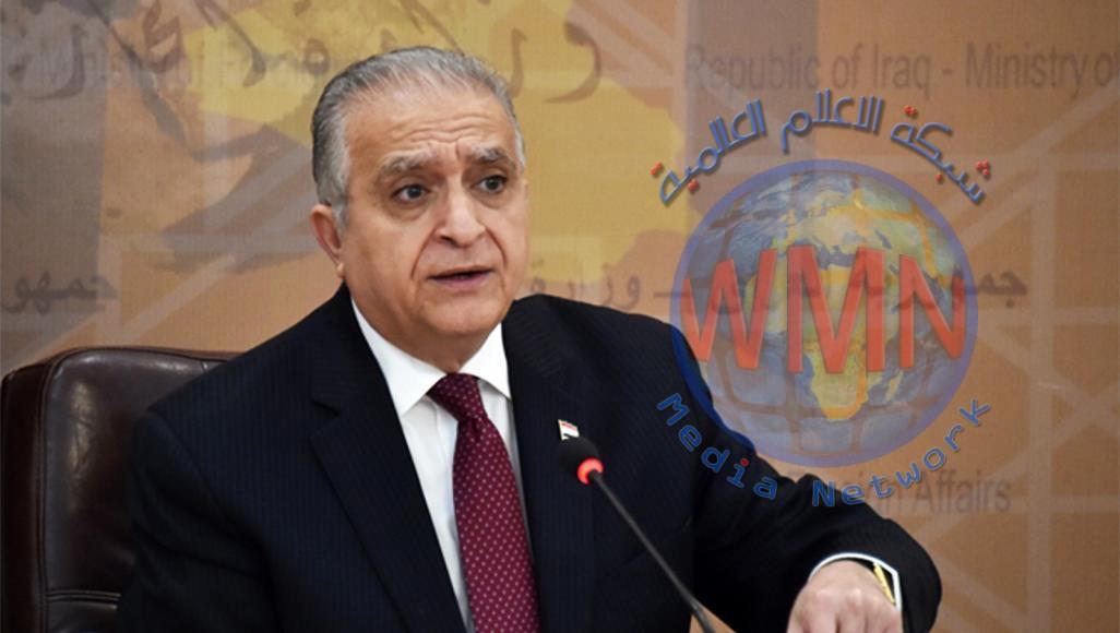 وزير الخارجية محمد الحكيم يتحدث عن انباء بتعيين منتمين لحزب البعث بالوزارة وعن القضية الفلسطينية