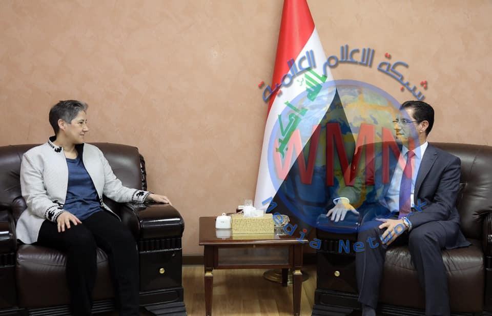 وزير التخطيط يبحث سبل تعزيز جهود إعادة الاستقرار في المناطق المحررة مع الممثل المقيم لبرنامج الأمم المتحدة الإنمائي في العراق
