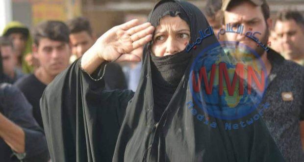 """موقع """"الحشد الشعبي"""" ينفرد بلقاء والدة الشهيد حسين العلياوي صاحبة """"التحية العسكرية"""""""