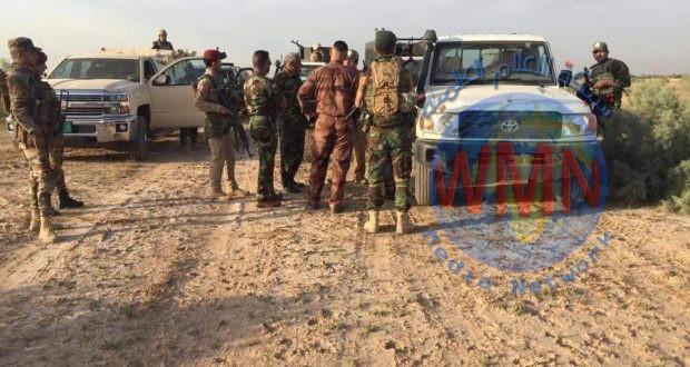 الحشد الشعبي ينفذ عملية تفتيش واسعة بقاطع مطار الضلوعية جنوب سامراء
