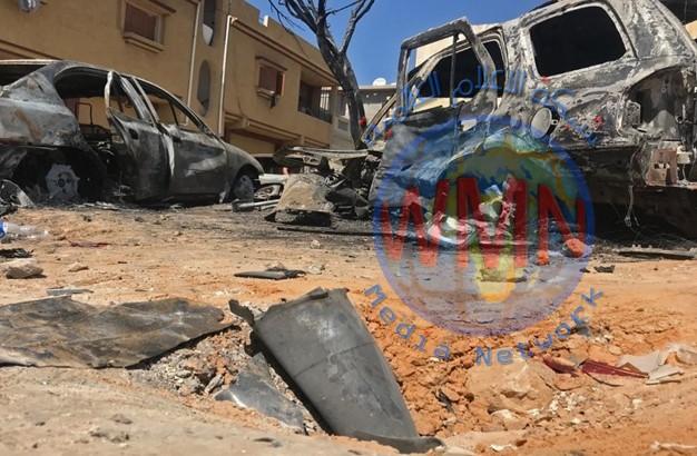 طائرات حربية تابعة لحكومة الوفاق الليبيةِ تنفذ غارات على مواقع قوات حفتر جنوب طرابلس