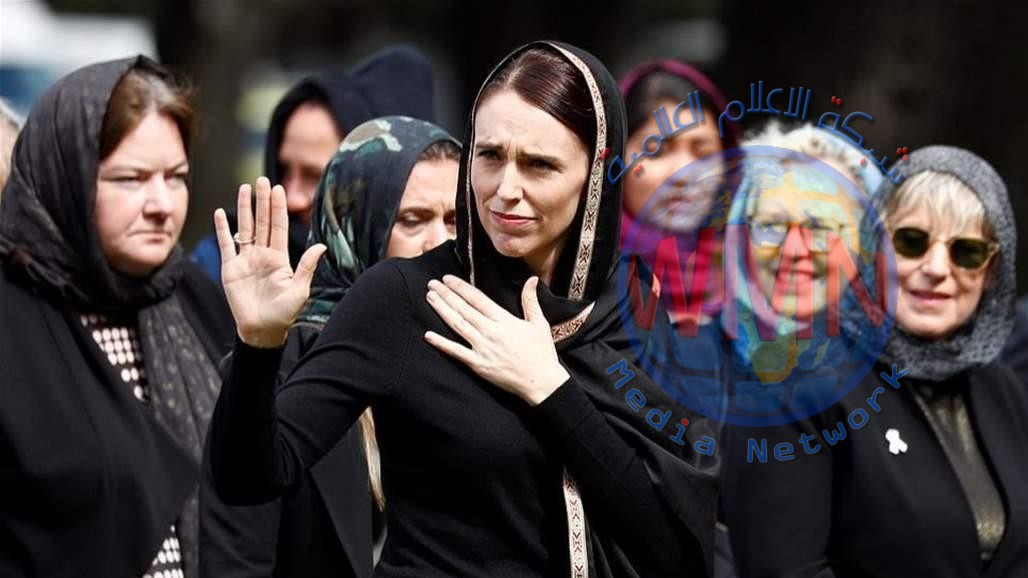 صورة رئيسة وزراء نيوزيلندا على ملصق تهنئة رمضانية