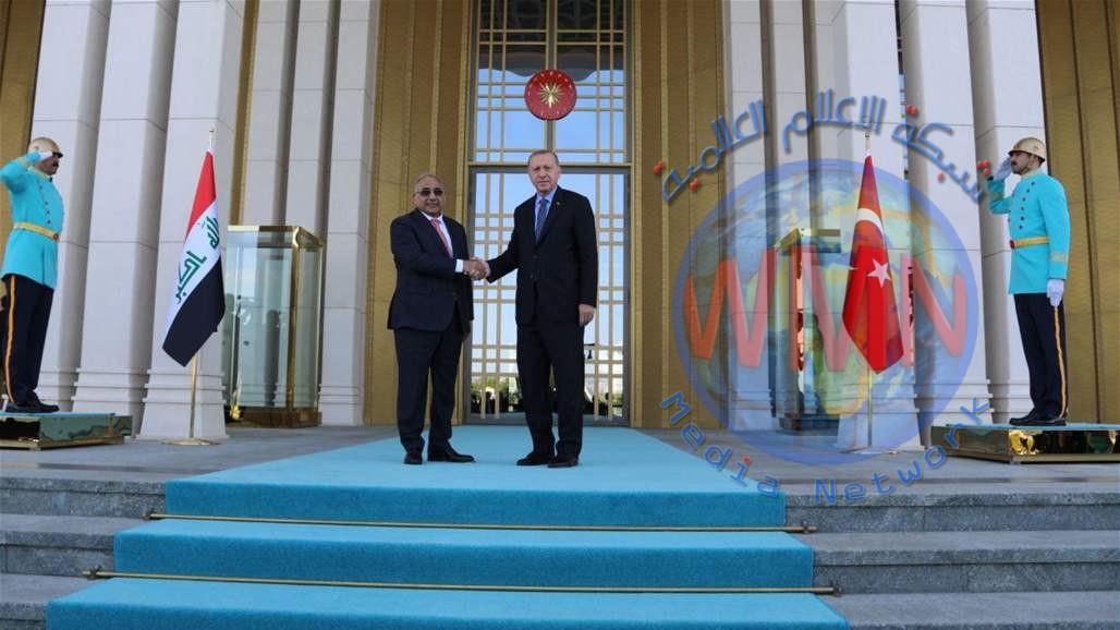 عبد المهدي يلتقي اردوغان في انقرة