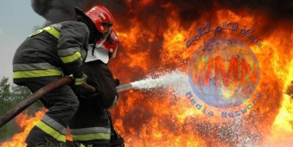 حريق في أنبوب النفط في جنوب ايران