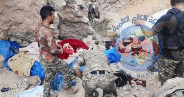 الحشد الشعبي والقوات الامنية تودمر 10 مضافات داعشية في عمق سلاسل جبال حمرين