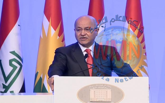 """صالح يشيد من برلمان كردستان بدور الحشد الشعبي بدحر """"داعش"""""""