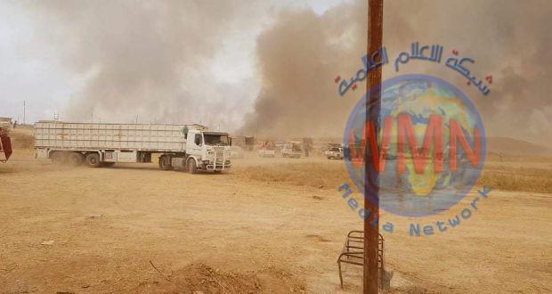 استخبارات الحشد تتوصل إلى المتسبب بحرائق المزارع في نينوى
