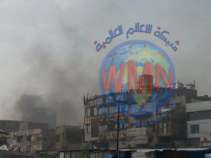 اخماد حريق في سوق باب الدروازة بالكاظمية