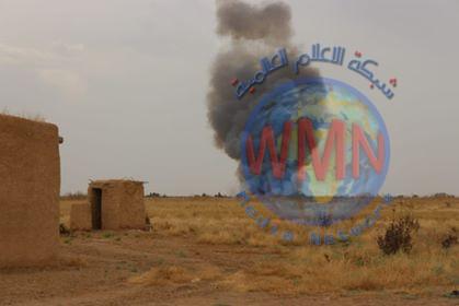 قوة مشتركة من الحشد والاتحادية تدمر ثلاث مضافات لداعش شمال شرق كركوك