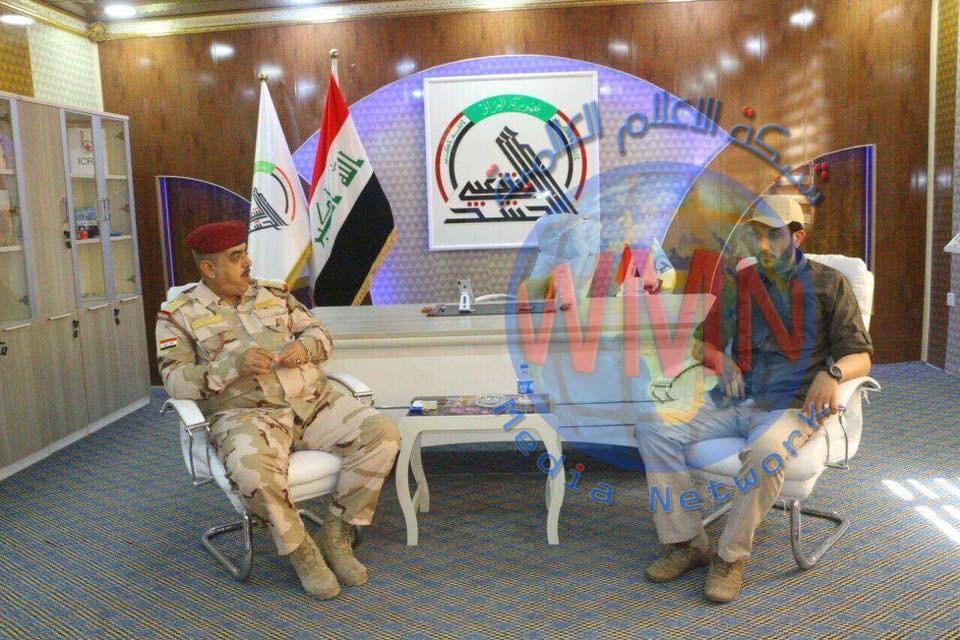 قائد عمليات صلاح الدين يزور مقر اللواء 88 في الحشد_الشعبي