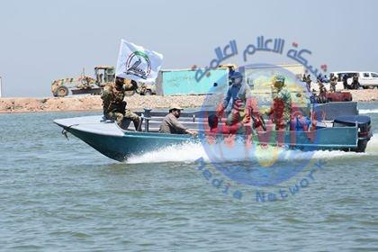 الحشد يُفعِّل القوة النهرية في ديالى ويُسيِّر دوريات بعمق بحيرة حمرين
