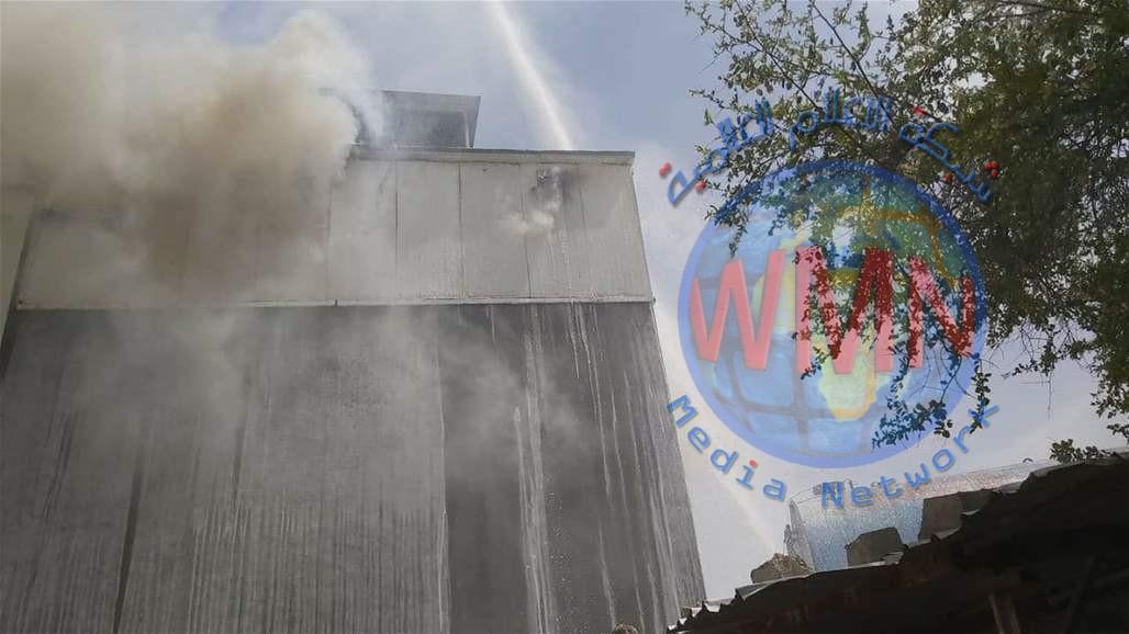 مديرية الدفاع المدني:اخماد الحريق في مجمع تجاري وسط العاصمة بغداد