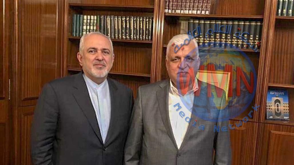 فالح الفياض يبحث مع ظريف العلاقات الثنائية بين بغداد وطهران