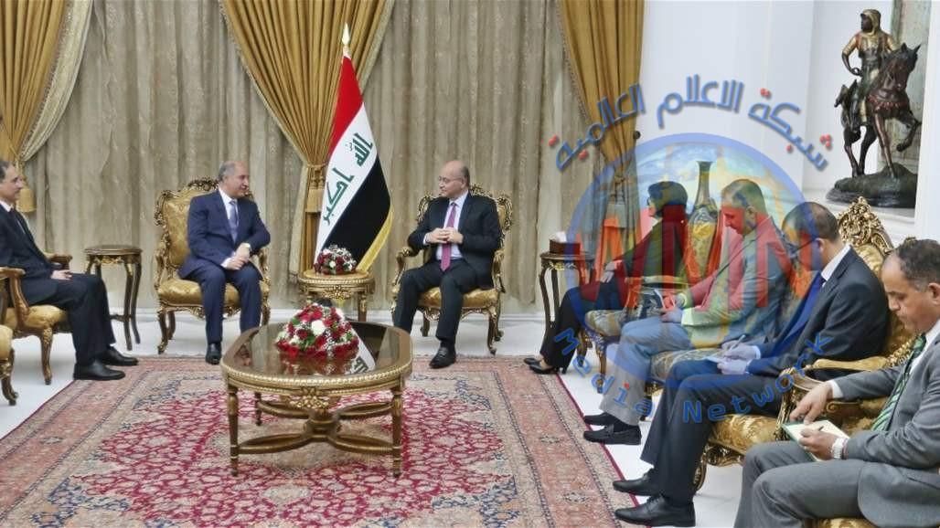 برهم صالح يؤكد سعي العراق لتوسيع علاقاته الخارجية في مختلف المجالات