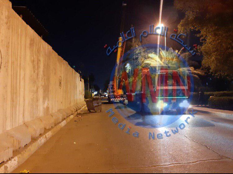 امانة بغداد تعلن عن رفع الكتل الكونكريتية عن موقعين شمال بغداد
