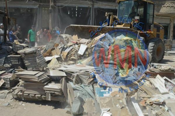 امانة بغداد تكثف حملاتها لازالة التجاوزات