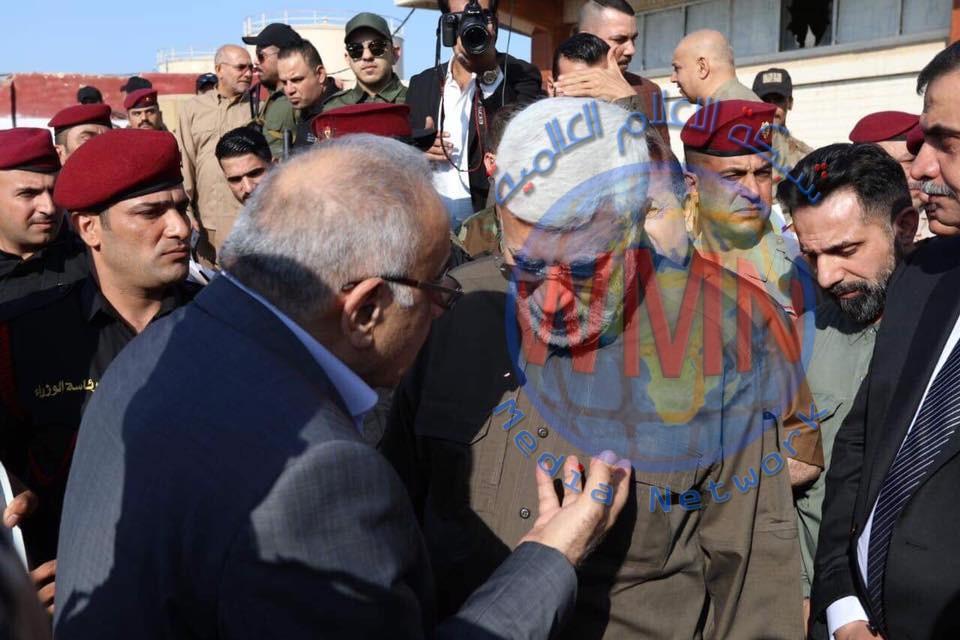 بالصور.. حوار بين عبد المهدي والمهندس حول عمليات إرادة النصر في مرحلتها الثانية